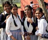 School girls at Ghandi's Tomb