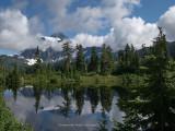 Mount Shuksan and Highwood Lake