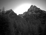 IR Sunset behind Morningstar Peak