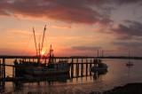 Sunset over  Docks