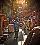 Pedi-cab ride through Old Delhi