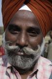 New Delhi, man at Bahai Temple