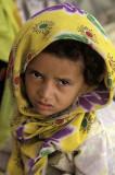 Girl at Koran school, Al-ashrafiya Mosque, Ta'izz