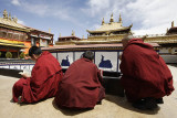 Monks inside Jokhang