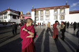 Long shadows at Jokhang