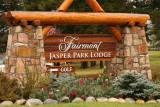 Entrance to the Fairmont Jasper Park Lodge