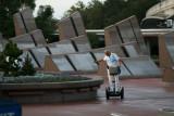 Disney employee on Segway at EPCOT