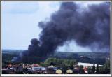Oignies Libercourt  Incendie prés de l'ancienne Fosse 2