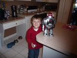 Brandon with Robot Christmas Present
