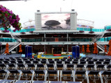 12' X 22'  JumboTron Above Waves Pool on the Carnival Dream