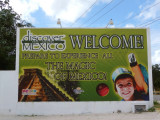 Entering 'Discover Mexico' in Cozumel
