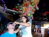 Bill Doing Shots at Margaritaville, Cozumel