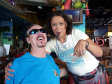 Bill and Shot Girl at Margaritaville, Cozumel