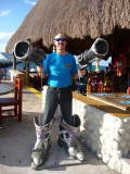 Bill at Fat Tuesday's, Cozumel