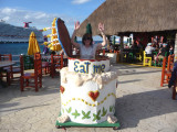 Susan at Fat Tuesday's, Cozumel