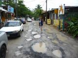 Main Street of West End Village, Roatan