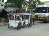 Traffic Jam Leaving Port of Belize City
