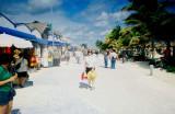 The Malecon (Boardwalk) in Majahual, Mexico