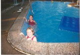 The Holwick twins in the pool