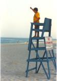 Wayne the lifeguard at Ocean City, Md.