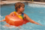 Erica on the pool saddle