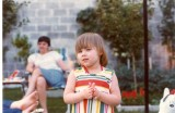 Erica in Grandmom's yard
