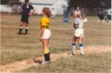 Erica on the soccer field