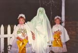 Meghan, Chris & Amanda Holwick making the rounds at Halloween