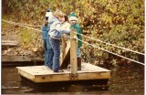 Stream crossing at Girl Scout camp in October of 1983