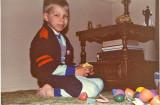 Successful Easter egg hunt in April 1983