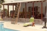 Patio construction in progress