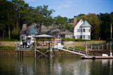 Nice waterfront homes along the way
