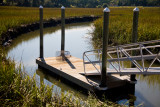 Marsh canal dock