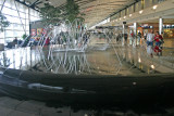 Detroit Airport fountain