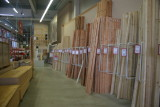 Neat stacks of lumber