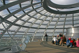 Observation level in the Reichstag Dome