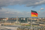 View to the train station from the Reichstag roof