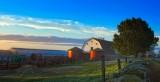 Sunrise down on  the farm