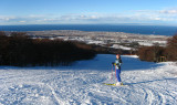 Esquiando en Punta Arenas, con vista al mar