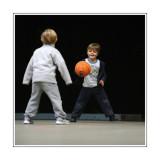 Antoine et Adam au Basket