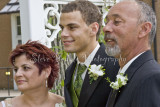The groom and his mother and father