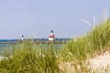 Aug. 17, 2008 - Lighthouse through the dunes