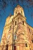 Church With High Steeples