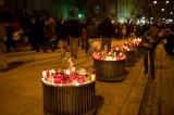 Candles Along Krakowskie Przedmiescie Street