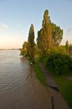 Wisla River Boulevard Flooded