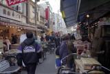 Outside shops at Tsukiji Tokyo