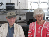 Wilma Calkins and George on the dais.