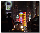 neon signs and evening hustle...