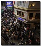 crowds...