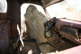 Rock Rolled Down Cliff into Truck